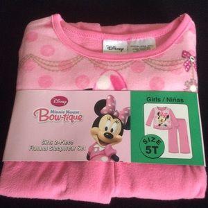 NWT Disney Minnie Mouse Bow-Tique Sleepwear, Sz 5T